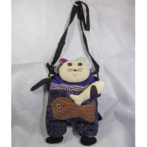 感謝セール!エスニックバッグ、アジアン、タイ、お魚&猫ショルダー、 ネット通販 eba28-2