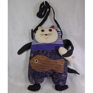 感謝セール!エスニックバッグ、アジアン、タイ、お魚&猫ショルダー、 ネット通販 eba28-5