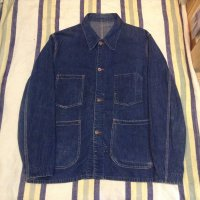VINTAGE  40's 〜 unknown denim coverall jacket