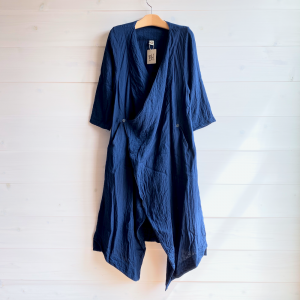 [Tribal Arts]<br>-Wガーゼカシュクール羽織り- 藍染