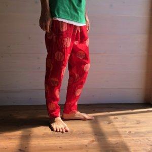 [Tribal Arts]-水玉レギンスパンツ- 赤