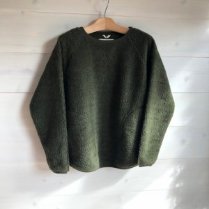A HOPE HEMP  BOA Raglan Wide Pullover OLV