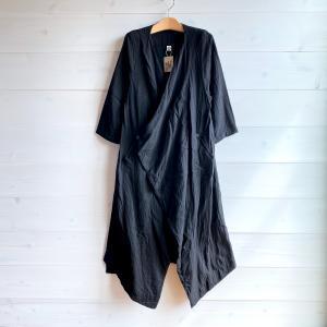 [Tribal Arts]<br>-Wガーゼカシュクール羽織り- 黒