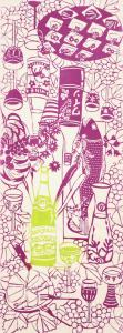 [工房カモ]<br>注染手ぬぐい -ワインパーティ- ピノ・ノワール