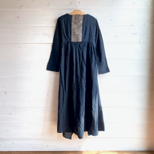 [yumtso]-Lao Textile Gown one piece -黒檀コットン B