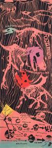 [工房カモ]<br>注染てぬぐい -恐竜王国「勝山」- プラネットカラー