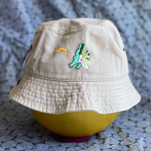 [pxsxl]<br>-embroidery Hat-カーキ 「知識!」