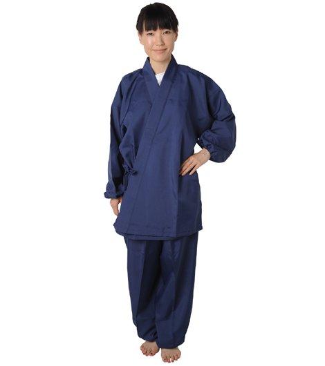 作務衣 トロピカル 紺 (夏用)