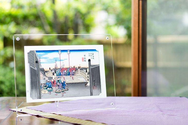 門出の日本橋セット<br/>/歌川広重「東海道五十三次 日本橋 朝之景(にほんばし あさのけい)」