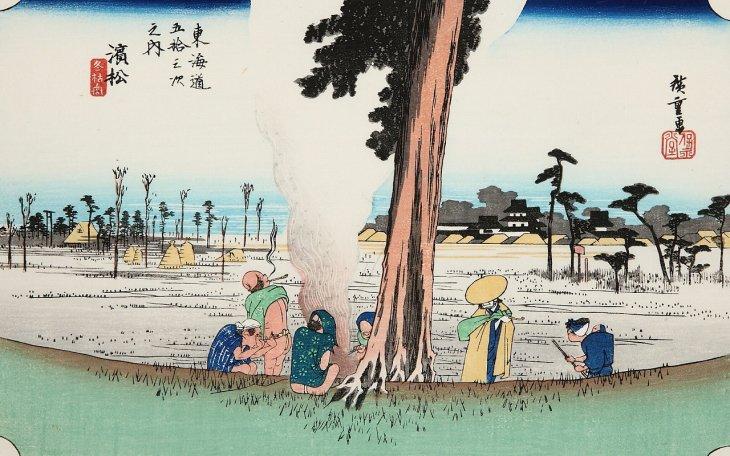 浜松 冬枯の図