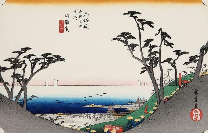 白須賀 汐見坂ノ図