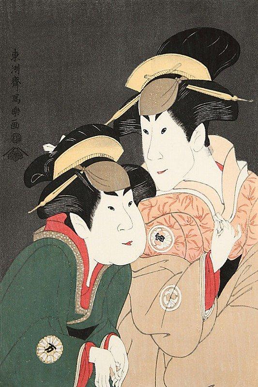 二世瀬川富三郎の大岸蔵人の妻やどり木と中村万世の腰元若草