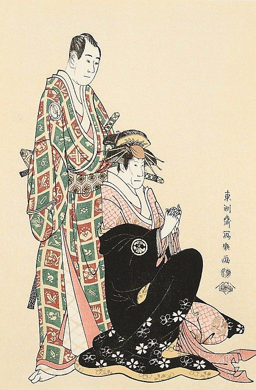 沢村宗十郎の名古屋山三と三世瀬川菊之丞の傾城かつらぎ