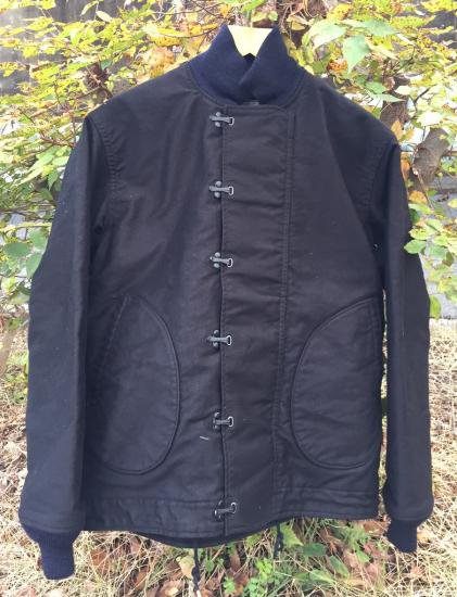 MFSC BLACK JUNGLE CLOTH DECK JACKET,N-1H