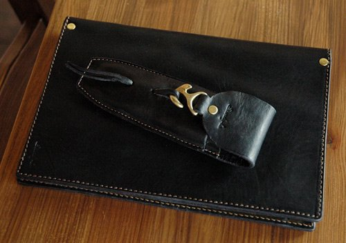 "Sturdy Luggage Supply ""Leather NoteBook Black Modified"""