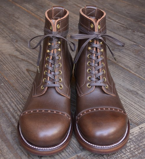 """CLINCH × Sturdy完全別注 「6"""" Lace up Boots Work Round Cap Toe  Oil Leather Limted」"""