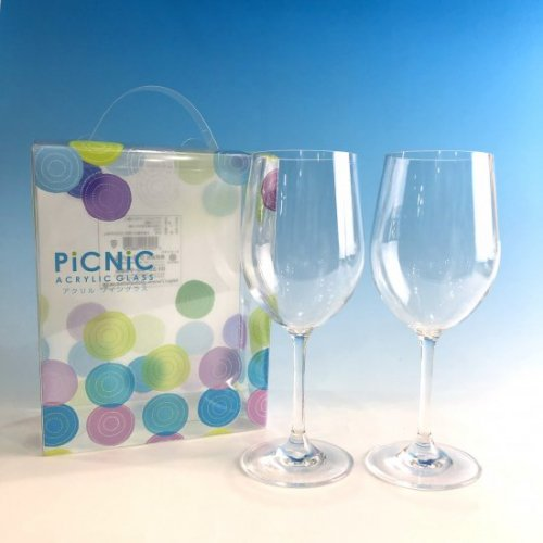 ピクニック アクリルワイングラス(2脚セット)