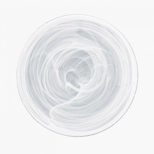 吉沼硝子 水墨 28cmプレート白