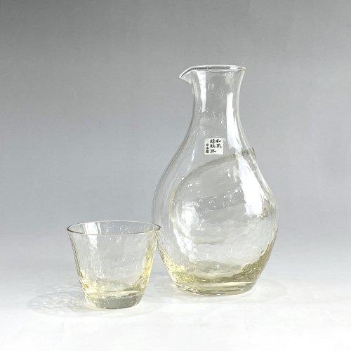 【東洋佐々木ガラス】高瀬川 琥珀 冷酒セット G604-M72 ハンドメイド