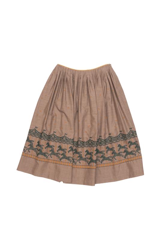 ミナペルホネン merry-go-round フレアスカート (36のみ)