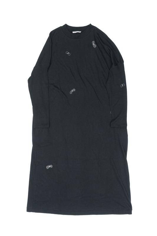 mina perhonen choucho カットソーワンピース(cotton) (ダークネイビー/40サイズのみ)