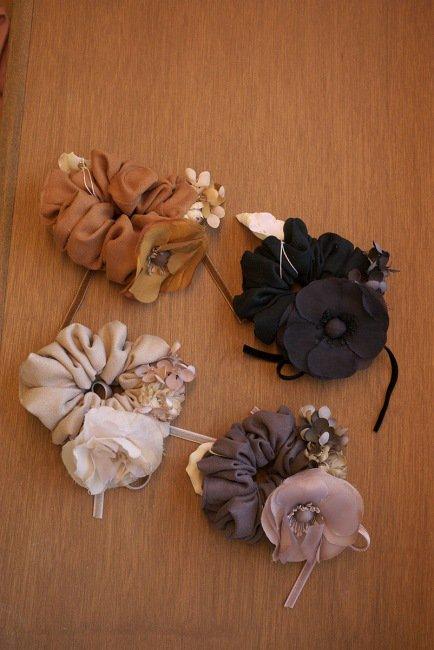 m.soeur  ボタンのお花シリーズ シュシュ