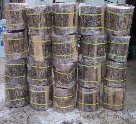 楢薪 大割 長さ30~27cm20束分 (20個口総重量300kg超)自然乾燥品送料安