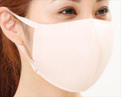 ぬれマスクにもなる無地素材の:◆◆プレーンマスクピンクベージュ・2枚入り