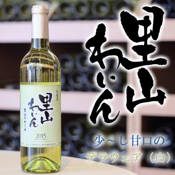 かぬま 里山ワイン デラウェア 白ワイン 720ml [ お土産 お酒 ギフトセット 贈り物 プレゼント 入学祝 入社祝 ]_画像