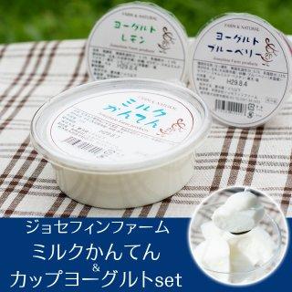 ジョセフィンファーム ミルクかんてん&カップヨーグルトセット_画像