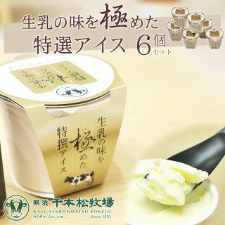 【送料無料】 千本松牧場 生乳の味を極めた特選アイス 6個セット  [ 栃木 ギフト 贈り物 プレゼント ]_画像