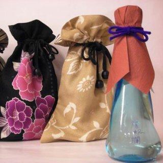 燦爛 和巾着入りオーロラ瓶 180ml_画像