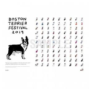ボストンテリアフェスティバル2019 撮影会参加者 集合ポスター