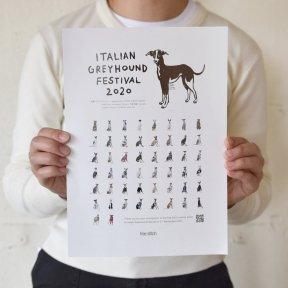 イタリアングレーハウンドフェスティバル 2020 撮影会参加者 集合フライヤー