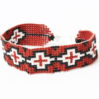 <img class='new_mark_img1' src='//img.shop-pro.jp/img/new/icons24.gif' style='border:none;display:inline;margin:0px;padding:0px;width:auto;' />【TONY TAIZSUN X SunKu】BEADS BLADE BRACELET RED ブレスレット ターコイズ 39 サンク コラボ