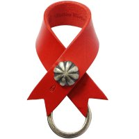 <img class='new_mark_img1' src='//img.shop-pro.jp/img/new/icons14.gif' style='border:none;display:inline;margin:0px;padding:0px;width:auto;' />【BUTTON WORKS】CONCHO RIBBON KEYRING RED レザーキーリング ボタンワークス