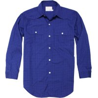 <img class='new_mark_img1' src='//img.shop-pro.jp/img/new/icons24.gif' style='border:none;display:inline;margin:0px;padding:0px;width:auto;' />【TONY TAIZSUN】DOT COTTON SHIRT BLUE コットンシャツ トニータイズサン