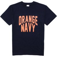 <img class='new_mark_img1' src='//img.shop-pro.jp/img/new/icons14.gif' style='border:none;display:inline;margin:0px;padding:0px;width:auto;' />【GRAVY'S】ORANGE NAVY CREW NECK TEE DARK NAVY Tシャツ