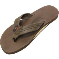 <img class='new_mark_img1' src='//img.shop-pro.jp/img/new/icons14.gif' style='border:none;display:inline;margin:0px;padding:0px;width:auto;' />【RAINBOW SANDALS】SINGLE LAYER CLASSIC LEATHER WITH ARCH SUPPORT MOCHA レザーサンダル レインボーサンダル