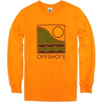 <img class='new_mark_img1' src='//img.shop-pro.jp/img/new/icons14.gif' style='border:none;display:inline;margin:0px;padding:0px;width:auto;' />【OFFSHORE】COLOR LOGO LONG SLEEVE TEE ORANGE ロンT オフショア