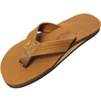 <img class='new_mark_img1' src='https://img.shop-pro.jp/img/new/icons24.gif' style='border:none;display:inline;margin:0px;padding:0px;width:auto;' />【RAINBOW SANDALS】SINGLE LAYER CLASSIC LEATHER WITH ARCH SUPPORT TAN BROWN レザーサンダル レインボーサンダル