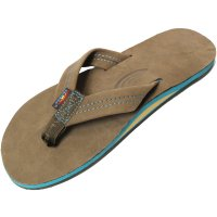 <img class='new_mark_img1' src='https://img.shop-pro.jp/img/new/icons14.gif' style='border:none;display:inline;margin:0px;padding:0px;width:auto;' />【RAINBOW SANDALS】SINGLE LAYER PREMIER LEATHER WITH BLUE MIDSOLE  EXPRESSO/BLUE レザーサンダル レインボーサンダル