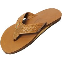 <img class='new_mark_img1' src='https://img.shop-pro.jp/img/new/icons14.gif' style='border:none;display:inline;margin:0px;padding:0px;width:auto;' />【RAINBOW SANDALS】THE BENTLEY PREMIER LEATHER TOP AND WOVEN STRAP WITH ARCH SUPPORT CLASSIC TAN BROWN