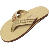 <img class='new_mark_img1' src='https://img.shop-pro.jp/img/new/icons16.gif' style='border:none;display:inline;margin:0px;padding:0px;width:auto;' />【RAINBOW SANDALS】THE BENTLEY CLASSIC LEATHER TOP AND WOVEN STRAP WITH ARCH SUPPORT SIERRA/DARK BROWN