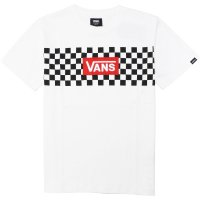 <img class='new_mark_img1' src='https://img.shop-pro.jp/img/new/icons49.gif' style='border:none;display:inline;margin:0px;padding:0px;width:auto;' />【VANS】CHECKER TEE WHITE/BLACK Tシャツ バンズ