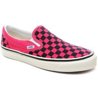 <img class='new_mark_img1' src='https://img.shop-pro.jp/img/new/icons14.gif' style='border:none;display:inline;margin:0px;padding:0px;width:auto;' />【VANS】ANAHEIM FACTORY CLASSIC SLIP-ON 98 DX SHOES OG PINK NEON/CHECKERBOARD アナハイムファクトリーパック バンズ