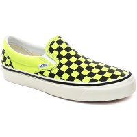 <img class='new_mark_img1' src='https://img.shop-pro.jp/img/new/icons14.gif' style='border:none;display:inline;margin:0px;padding:0px;width:auto;' />【VANS】ANAHEIM FACTORY CLASSIC SLIP-ON 98 DX SHOES OG YELLOW NEON/CHECKERBOARD アナハイムファクトリーパック バンズ