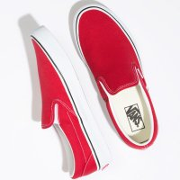 <img class='new_mark_img1' src='https://img.shop-pro.jp/img/new/icons24.gif' style='border:none;display:inline;margin:0px;padding:0px;width:auto;' />【VANS】CLASSIC SLIP-ON RACING RED スリッポン バンズ