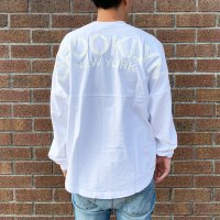 <img class='new_mark_img1' src='https://img.shop-pro.jp/img/new/icons14.gif' style='border:none;display:inline;margin:0px;padding:0px;width:auto;' />【SPIRIT JERSEY】CLASSIC STYLE BROOKLYN NEW YORK WHITE/WHITE ドルマンスリーブTシャツ スピリットジャージー