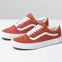 <img class='new_mark_img1' src='https://img.shop-pro.jp/img/new/icons24.gif' style='border:none;display:inline;margin:0px;padding:0px;width:auto;' />【VANS】OLD SKOOL PIG SUEDE BURNT BRICK/TRUE WHITE オールドスクール バンズ